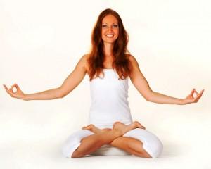 Yoga-Lotus-Sitz Meditation Arme zur Seite
